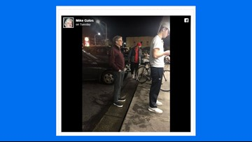 Bill Gates photographed in line for a burger at iconic  Dick's Drive-In in Seattle