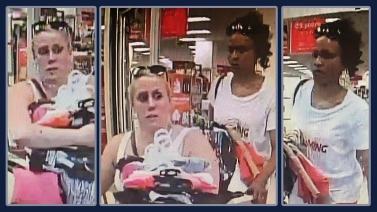 Salem Oregon hit and run TJ Maxx shoplifting suspects