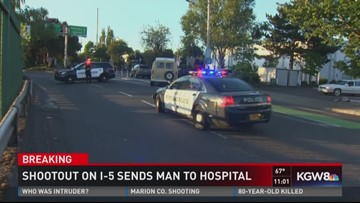 Police investigate shootout on I-5