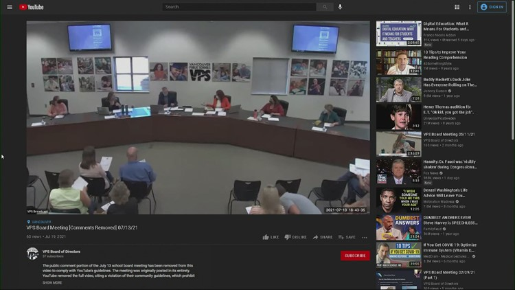 Parts of Vancouver school board meeting pulled from YouTube because of misinformation