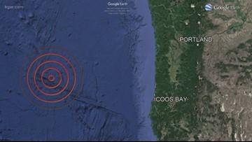 Magnitude 6.3 quakes hits off Oregon coast