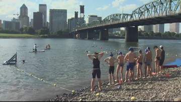 Grant and South Salem take water polo matches to Willamette River