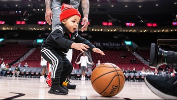 Dame Jr. steals the show at Blazers game
