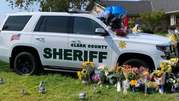 Tributes grow as memorial service for fallen Clark County deputy takes shape