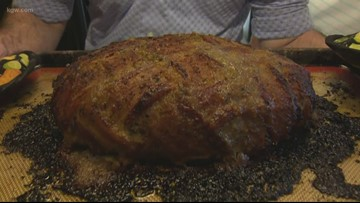 Holiday recipe: Bacon wrapped turkey meatloaf