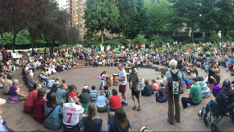 Vigils in Portland protest 'inhumane conditions faced by migrants'