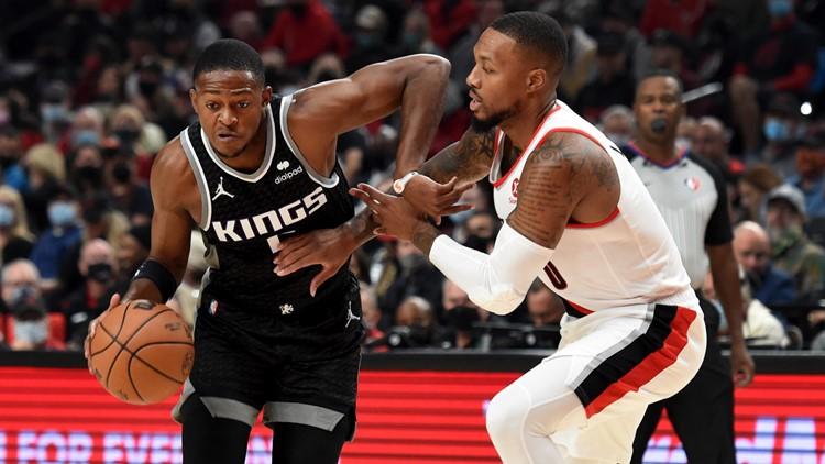 Harrison Barnes has 36 and the Kings spoil Portland's opener 124-121