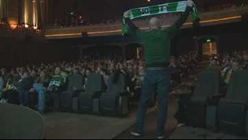 Timbers fans gather to watch MLS Cup