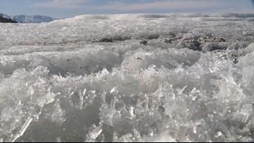 Rare salt mounds form on Great Salt Lake