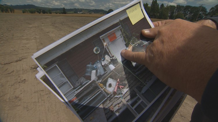 Neighbors took photos of the damage and showed KGW News what the property looked like before a major sale and cleanup of the site.