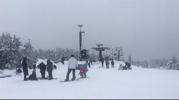 Ski areas saw plenty of snow; partly sunny Christmas Day
