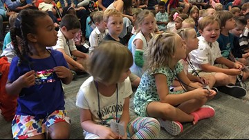 Kindergarteners attend first day in the Portland Public School District
