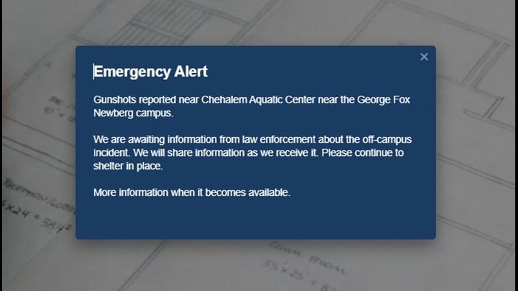 Gunshots reported near George Fox University in Newberg