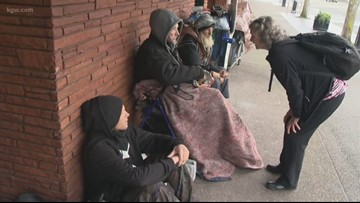 'How can we turn our backs?' Grandma spent Christmas helping Salem's homeless amid camping ban