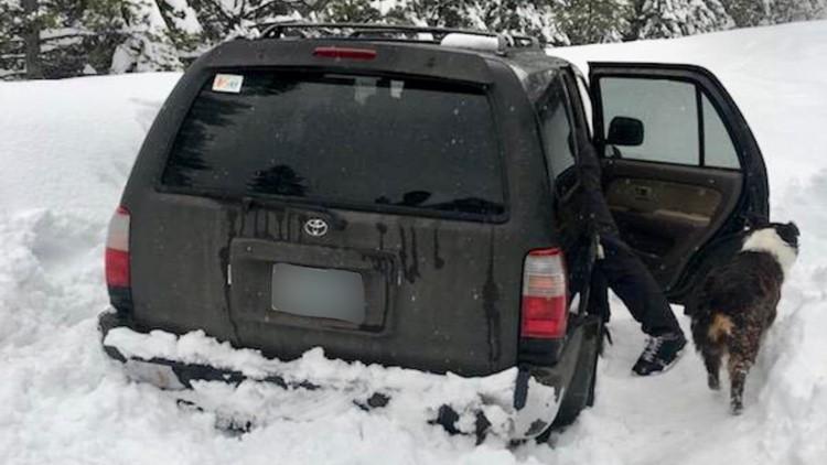 Toyota 4Runner found stuck in snow west of Sunriver