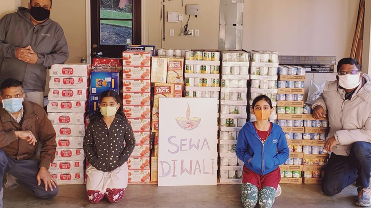 People can donate to the Sewa Diwali Food Drive through Nov. 21