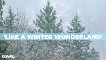 Hood River gets some snow to start December