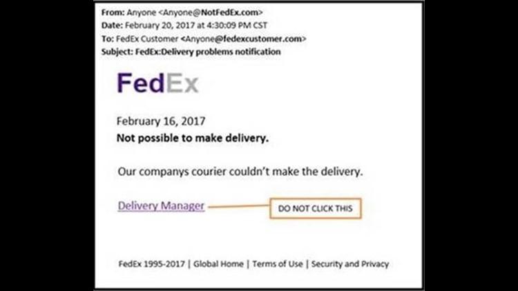 Fake FedEx Email