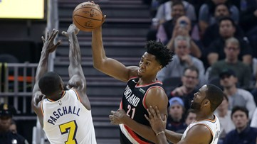 Blazers fall to injury-plagued Warriors 127-118