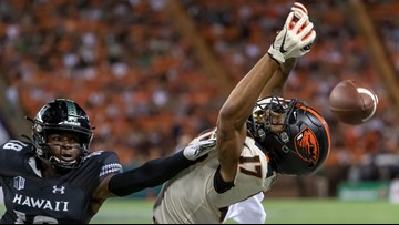 Oregon State loses to Hawaii, 31-28, on late field goal
