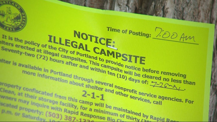 City to clear Laurelhurst Park homeless camp