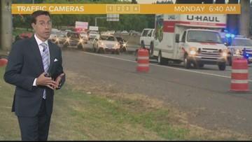 Pedestrian fatal closes I-205 lanes, creates backup