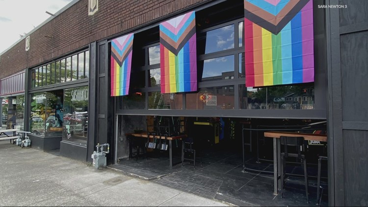 Vandals tear down Pride banners at Vancouver bar, owners say