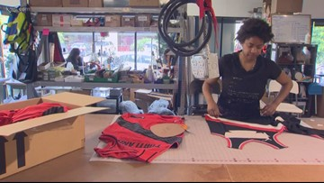Portland company turns old Blazers jerseys into backpacks, pillows