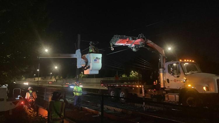 TriMet MAX service restored between Beaverton and downtown Portland