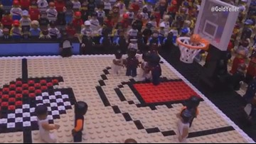 Lillard's buzzer-beater recreated with Legos & stop motion video