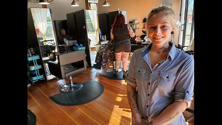 Owner of Kelz Beauty and Barbering, Kelli Gasaway