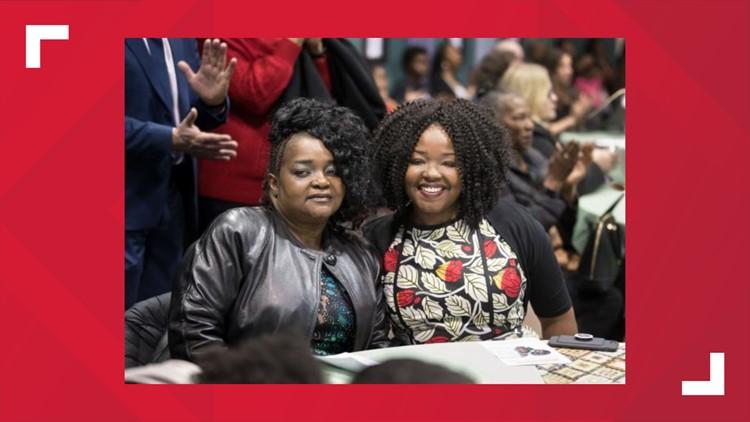 Ebony Clarke and mom