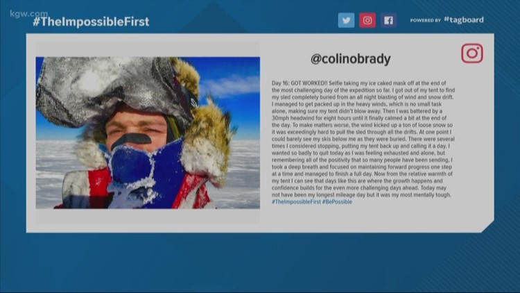 Tracking Colin O'Brady in Antarctica: Day 17