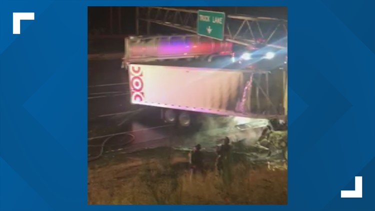 Driver killed in fiery semi-truck crash that closes northbound I-5 in Portland
