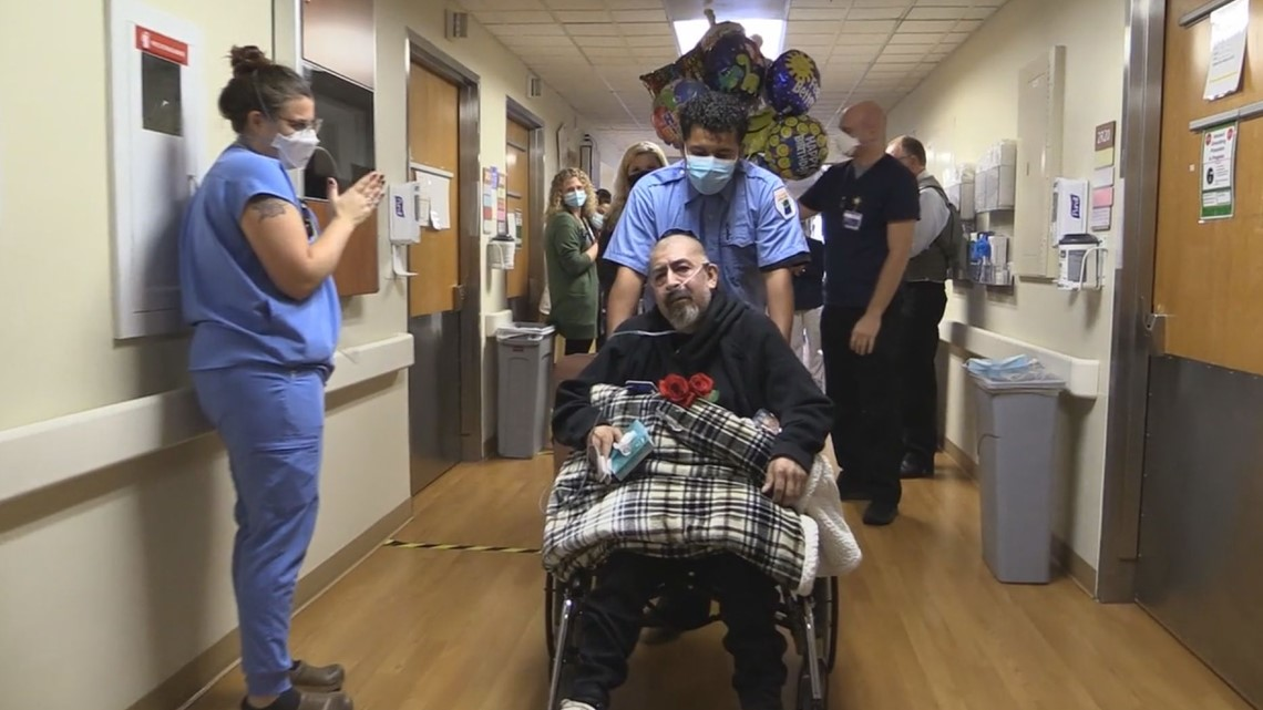 After 299 days in the hospital with COVID, Sandy man returns home, just in time to celebrate 22nd wedding anniversary - KGW.com
