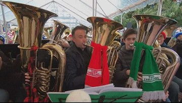 Tuba Christmas takes over Portland's