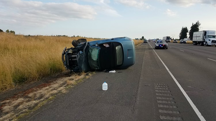 Rollover crash near Wilsonville