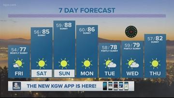 KGW evening forecast 7-18-19