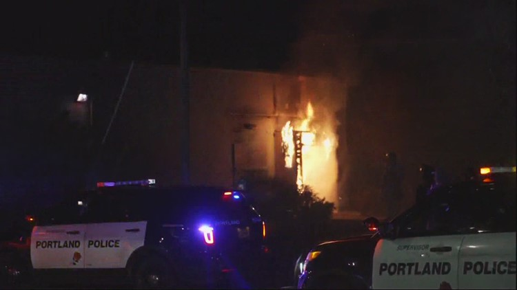 Woman charged in North Portland arson, riot