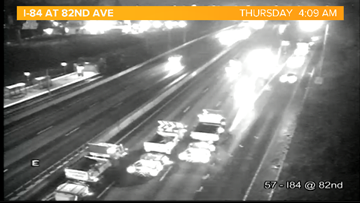 I-84 Eastbound Closed at 82nd Ave