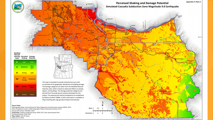 Perceived Shaking and Damage Potential of 9.0 Earthquake