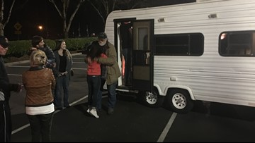 Man living on the streets in Canby gifted trailer