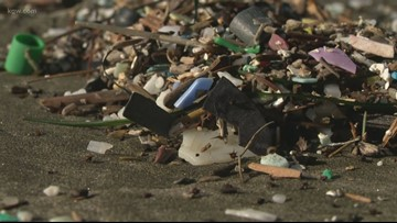 High tides litter Oregon beaches with trash
