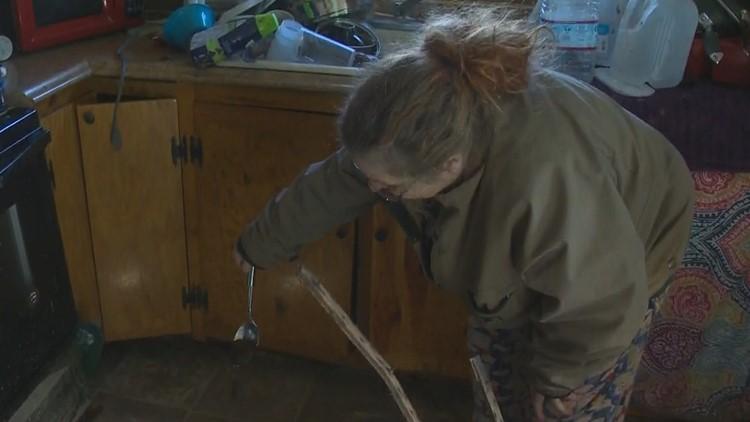 Misty Ross inside her home in Pendleton