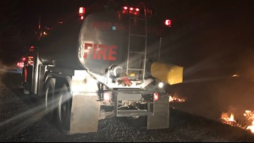 Fire burns 12 acres near Silverton