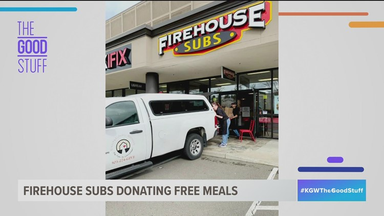 Firehouse Subs donates meals to first responders in the Portland area