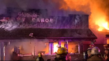 Fire destroys popular Shirley's Tippy Canoe restaurant outside Troutdale