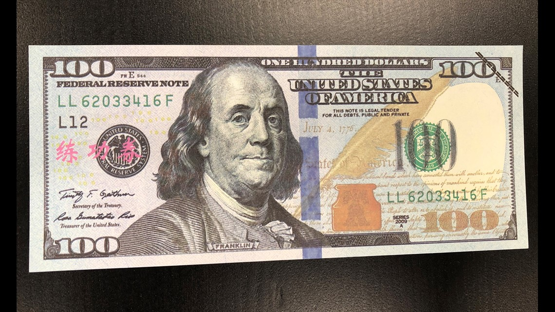 It's just an image of Printable 100 Dollar Bill Actual Size in hundred dollar