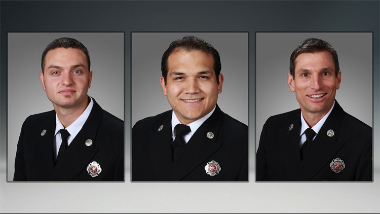 From left, Erik Kent, Peter St. John and Bret Kimple