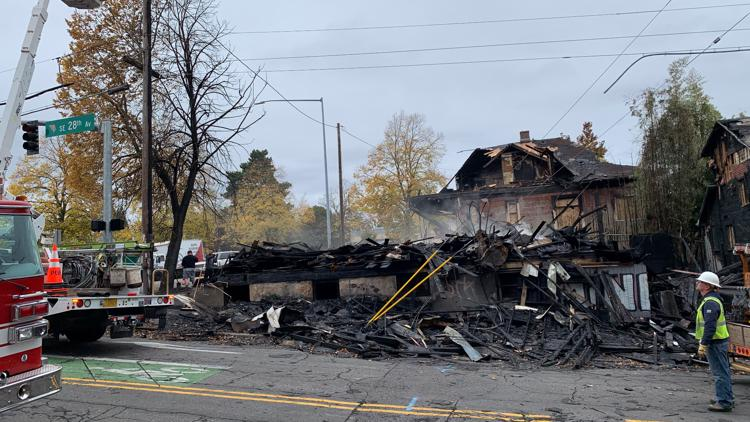 Neighbors say they had complained for years about abandoned building in Portland that burned down